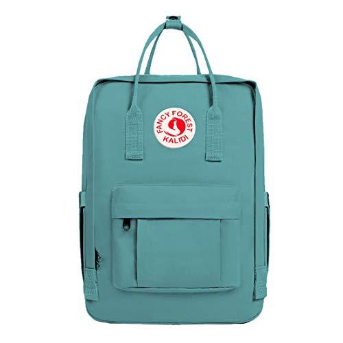 KALIDI Unisex Lightweight Backpack School Bag Water-Resistant Casual Rucksack fits 15 inch Laptop for Boys Girls Men and Women (Fgreen)