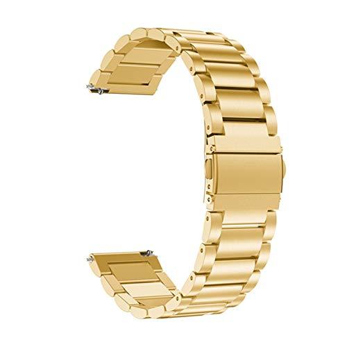 Correa Original para Huawei Watch GT Watch Band para Xiaomi Huami Ambashit Stratos 2 2S Pulsera De La Pulsera De Acero Inoxidable De 22 Mm. (Color : Gold, Size : 22mm for Samsung S3)