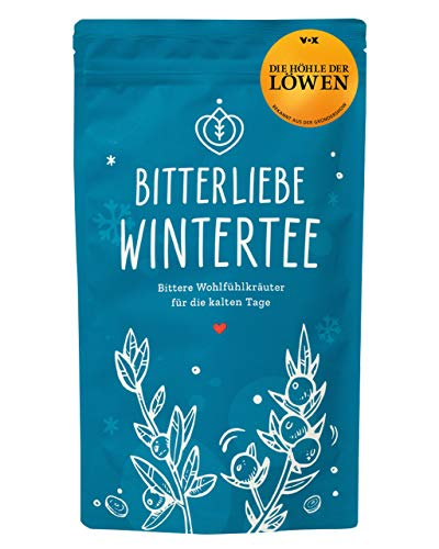 BitterLiebe® Winter Kräutertee lose 100g mit der Kraft der Bitterstoffe I Bitterkräuter, Pfefferminzblätter, Hagebuttenschalen, Ingwerwurzel I ca. 60 Tassen