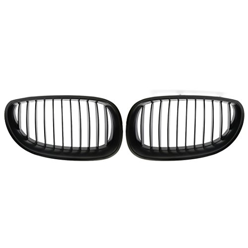 uxcell Matte Black Front Kidney Sport Grilles Grill for BMW E60 E61 5 Serie M5 03-09