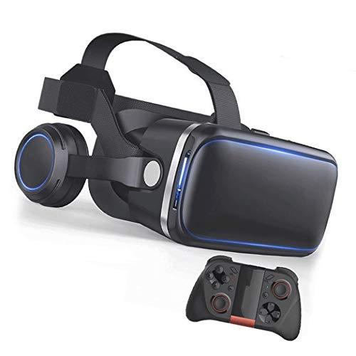 JYMYGS Gafas VR, Gafas de Realidad Virtual, VR Glasses Visión Panorámico 360 Grado Película 3D Juego Immersivo para Móviles 4.0-6.0 Pulgada para iPh X/7/6s 6/Plus, Galaxy s8/ s7, etc. N010JL