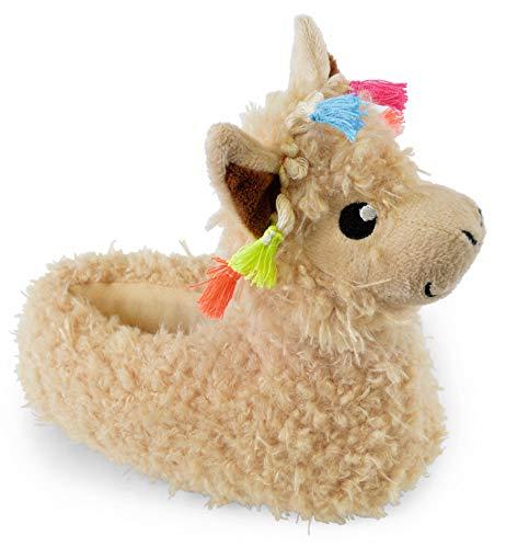 Slumber Hut  Mädchen und Damen Neuheit Hausschuhe - Einhorn Lama Mops Hund - Luxus Snuggle Velour Fleece Tier - Passende Kinder und Erwachsene Größen