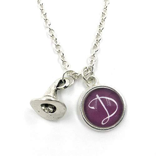 Butterfly N Beez Versilbert Personalisierte Zauberer/Hexen Hut Charm Halskette| Magie| Zauberer| Personalisierte Halskette| erste Charme| Monogramm| erste Halskette