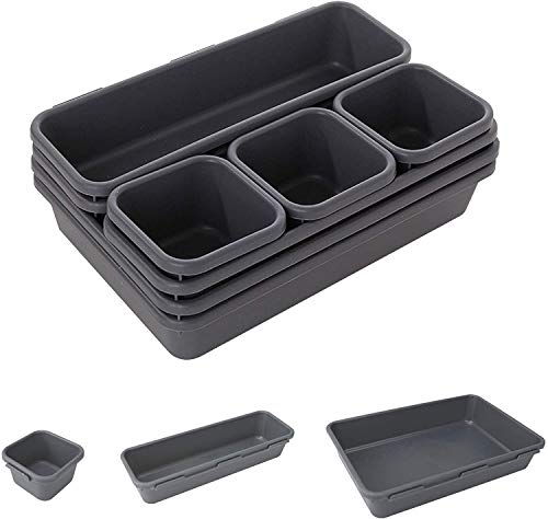 Desk Drawer Organiser, Office Boxes Set Box, Table Organiser, for Pens, Eraser and Other Office Accessories, Office, School and Household