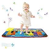 Tapis de jeu pour piano PROACC, Jouet de tapis de musique pour piano pour enfants, tapis de danse drôle de grande taille (31 * 13.8 pouces) pour bébés, cadeau garçons et filles pour tout-petits (bleu)