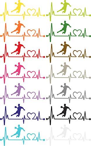 Herzlinien Aufkleber Handball 2