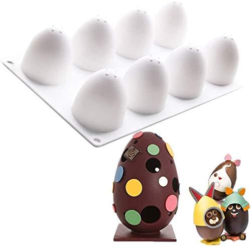 3D Paaseitjes Mal Pasen Chocolade Snoep Koekvorm Siliconen Bakvorm voor Gelei, Ijsblokjes Kunnen Worden Hergebruikt
