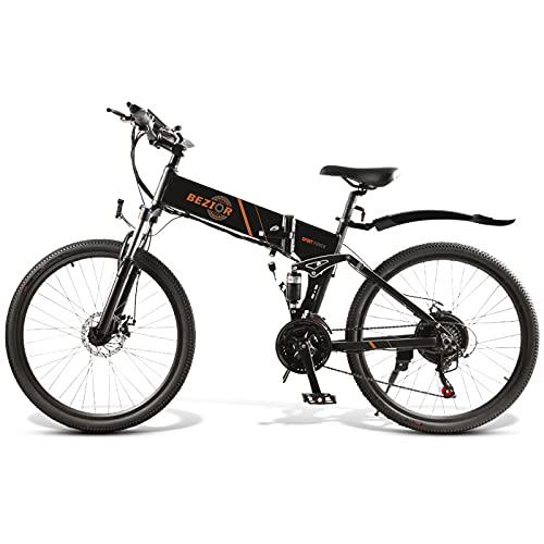 Lixada Bicicleta eléctrica Plegable de 500 W y 26 Pulgadas, Ciclomotor Eléctrico...
