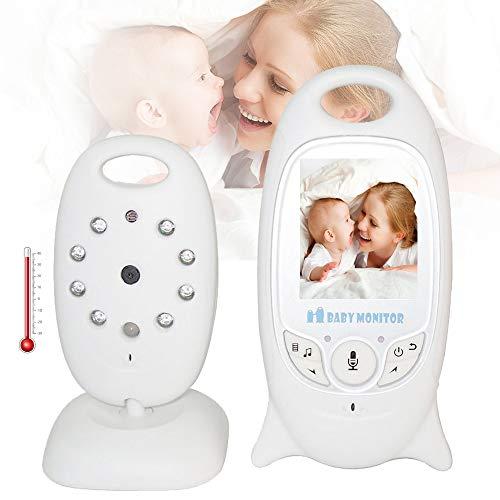 Video Monitor de Bebé Inalámbrico Infantil Radio Niñera Intercomunicador de Música Nightvision Cámara Portátil de Bebé Walkie Talkie Babysitter