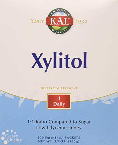 KAL Xylitol Powder, 100 Count