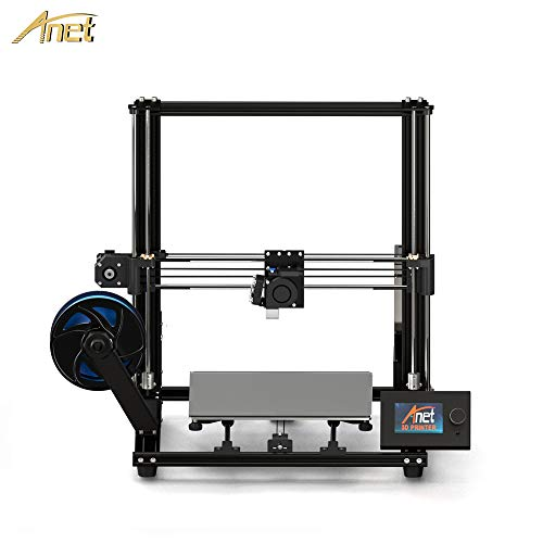 Anet A8 Plus 3D Printer Upgraded from Anet A8, All-Metal Frame, Larger Hotbed Size 300x300mm, Adjustable Belts Design, Moveable Operation LCD Display, Over-Current Protection Mainboard