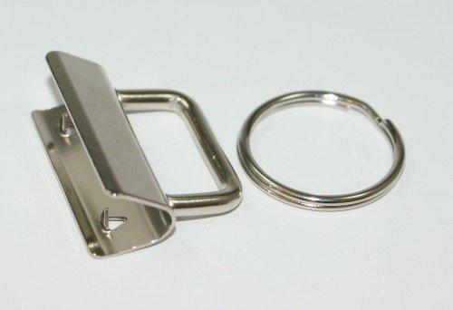 Rohlinge/Klemmschließe für Schlüsselanhänger, für 25mm breites Gurtband - Neues Model - 50 Stück *NEU*