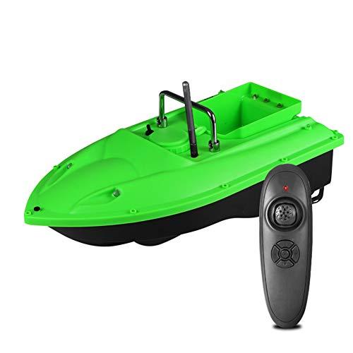 ZDSKSH Bait Boat RC Barco Buscador de Peces Cebo de Pesca Barco 1.5kg Carga 500m Control Remoto Velocidad Fija 2 Motores 1 Papelera de Cebo y Luz LED, Corrección Automática de Guiñada