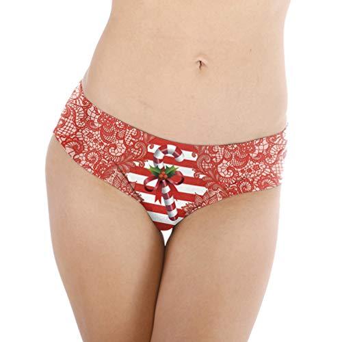 Amosfun Weihnachtsunterwäsche für Frauen 3D Bedruckte Weihnachtshöschen Shorts Kurzes Hipsterhöschen Schlaf Und Freizeit (Stil 1 S/M)