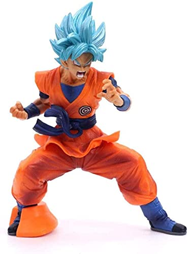 18 cm-Dragon Ball Su Goku Figurine Statue Modelo Personajes Animados Super Saiyan-Hero-Son Goku Puppet Escultura Souvenir Artesanía Juguetes