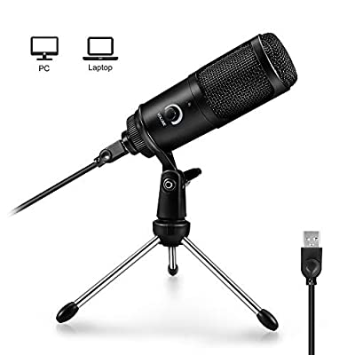 USB Microphone, ARCHEER PC Microphone Professional Condenser Recording Mic with Stand Plug & Play for Computer Laplop for Entertainment at Home,Youtube, Recording, Gaming, Singing or Meeting