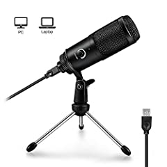 ▶【Plug and Play】- Professional recording USB microphone for computer is rather easy to use, simply plug the mic into your computer's USB port. No drivers required, a simple plug-n-play device. ▶【Perfect for Vocal】Cardioid polar pattern can isolate no...