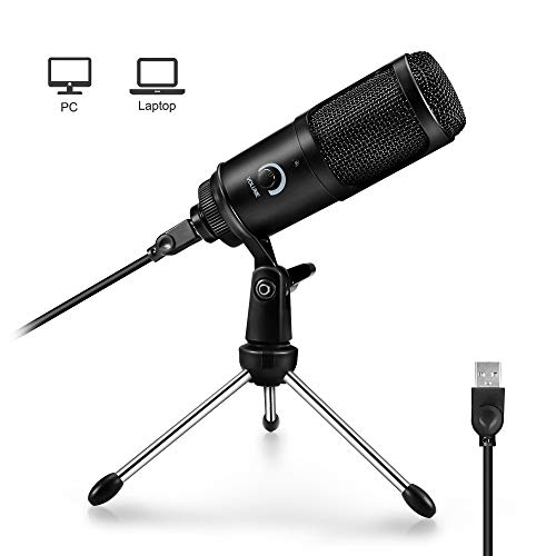 ARCHEER USB Mikrofon, PC Laptop Kondensator Microphone Gute Aufnahme Mikrofon Computer Recording Mic für Video, Broadcast, Podcast, YouTube, Streaming, Windows und MAC