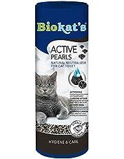Biokat's Active Pearls - Toevoeging voor kattenbakvulling met actieve kool, die de geurbinding en het absorberend vermogen verbetert - 1 blik (1 x 700 ml)