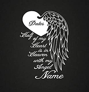 CELYCASY Heart with Wing in Loving Memory Vinyl Decal Loving Memory Decal Memorial Decal Car Decal Phone Decal Craft Decal Customizable Personalize