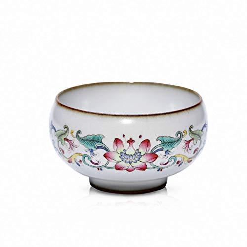 Tasse à thé en céramique émaillée à la main émaillée à la main Lotus Master Tea Set à thé à usage personnel