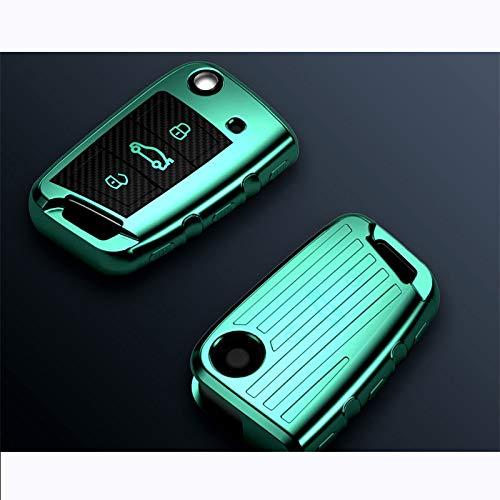 para VW Golf 7 mk7, para Seat Ibiza Leon 2 Altea Aztec, para Skoda Octavia, Accesorios de la Cubierta de la Caja del Control Remoto de la Llave del Coche de TPU Suave