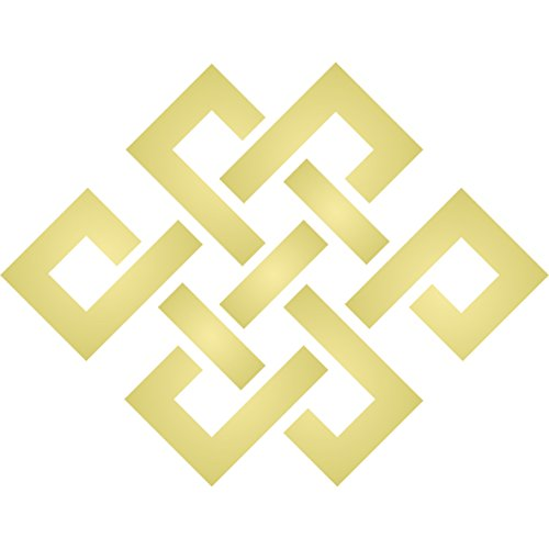 Endless Knot Stencil, 6.5 x 6.5 inch (L) - Celtic Knotwork Symbols Stencils for Painting Cards