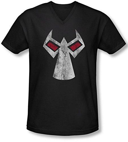Batman - Männer Bane Maske mit V-Ausschnitt T-Shirt, XX-Large, Black
