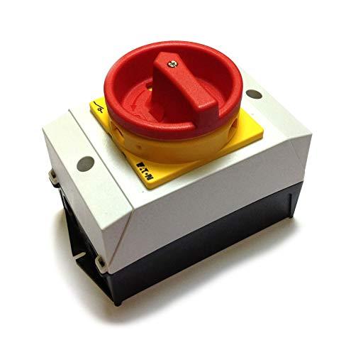 Eaton 207147 Hauptschalter, 3-polig, 20 A, NOT-AUS-Funktion, 90 Grad, abschließbar in 0-Stellung, Aufbau