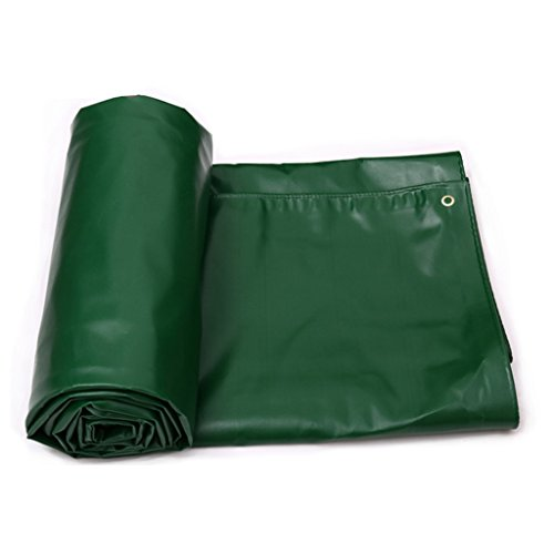 YUJIE Zware dekzeil - Groen dekzeil voor kamperen, vissen - 650 G / M2