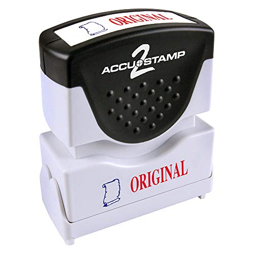 """Consolidated Stamp 035540 Accustamp2 Shutter Stamp With Microban Red/blue Original 1-5/8"""" X 1/2"""""""