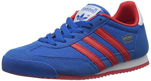 adidas Jungen Dragon Low-Top, Blau (Bluebird/Poppy/Running White FTW), 37 1/3 EU