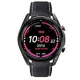 FENGJJ Nuevos Deportes Smart Watch Men Ladies Muñequera Reloj Inteligente, Reloj Despertador Llame a Smart Watch IP68 Reloj Inteligente Impermeable,Negro,Belt