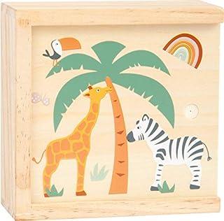 small foot 11696 Memo Safari, gjord av trä med djurmotiv i trendiga färger, med 28 memokort, från 3 år brädspel
