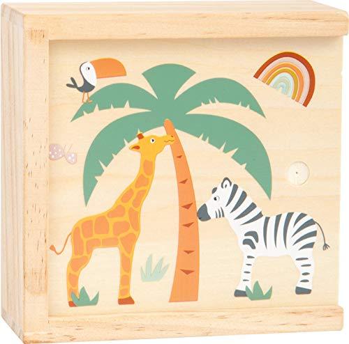 Small Foot 11696 Memo Safari, aus Holz mit Tiermotiven in Trendfarben, mit 28 Memokarten, ab 3 Jahren Board Game