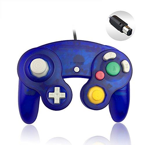 Reiso NGC Controller Classic Wired Controller für Wii Gamecube (transparent) 1 Stück