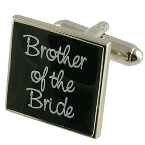 Cuff Links Gemelos Boda~hermano de la novia boda negro gemelos Seleccione bolsa de regalo