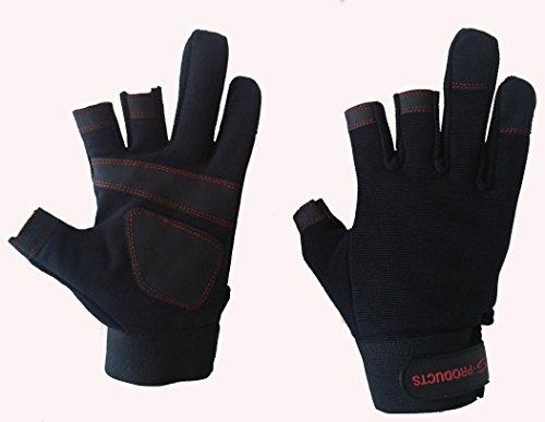 Mechanik Sicherheit Hand Schutz Schreiner, waschbar Fingerlose Arbeiten Handschuhe) Dunkelviolett