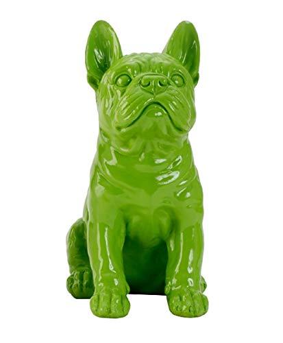 Geschenkestadl Französische Bulldogge Mops Figur (Grün)