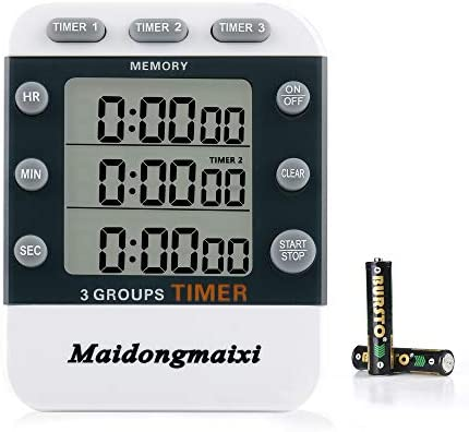 Timer Kitchen Timer Digital Kitchen Timers 3 Channels Count UP Down Timer Cooking Timer Stopwatch product image