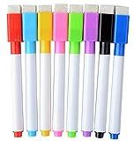 Magnetische Whiteboard Marker Stifte mit Radiergummi 8 Farben + 1 Sticky Notes Book