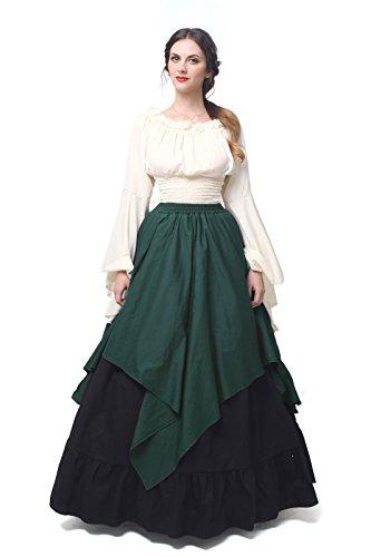 NSPSTT Damen Renaissance Mittelalter Kostüm viktorianisches Kleid -  -  Medium