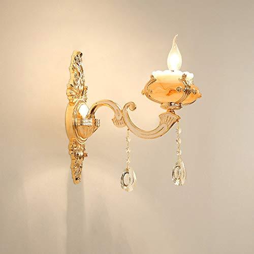 YLCJ Europese kaars marmer stand projectie zink-legering schaal lichaam wandplaat glas hanger E14 wandlamp lamp lamp