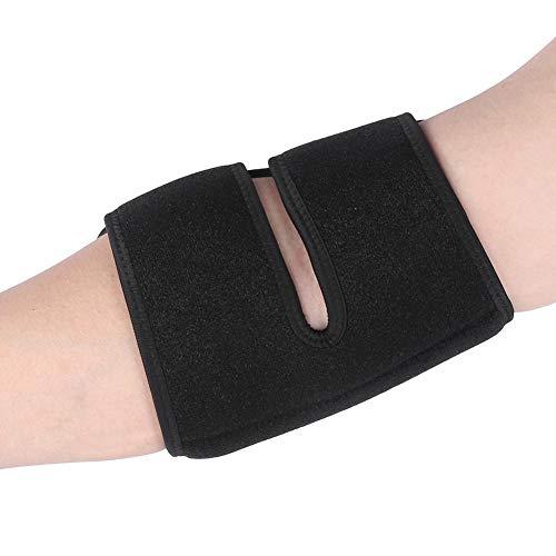 VGEBY Elbow Guard Elastic Hand Adjustment Handschutz Schutzausrüstung für Bergsteigen Basketball Tennis(Schwarz Rot)