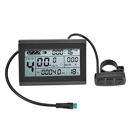 SALUTUYA Medidor de Pantalla de Potencia KT-LCD3 Medidor de Pantalla de Bicicleta Medidor de Pantalla LCD eléctrico para Bicicleta, con Conector Impermeable