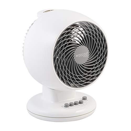 Ohyama Woozoo PCF-M18 , Ventilatore Da Tavolo , Potente E Silenzioso, 33W, Oscillante, Regolabile Verticalmente, Maniglia, 3 Velocità, Per Area 23M² , Bianco
