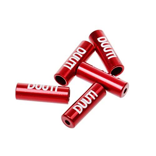 5piezas./Set Aluminio terminales/conteras para freno, cambios Tren, cable de freno, cambio cuerda–Piezas...