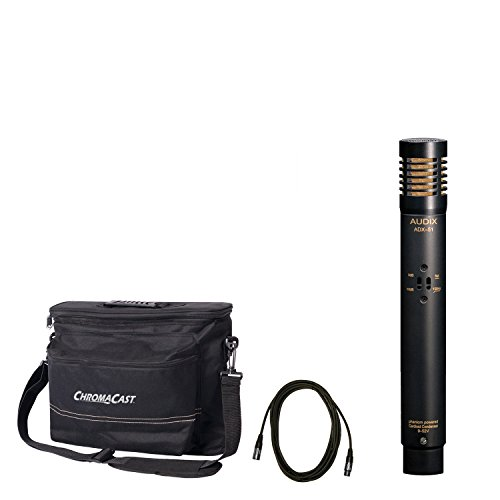 "Audix ADX51pre-polorized Kondensator Mikrofon mit chromacast 18,5\""Mikrofon Kabel und der Musiker Gear Tasche"