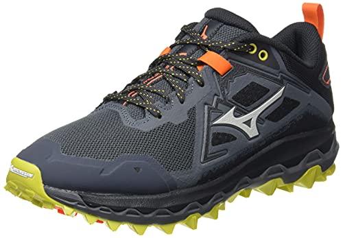 Mizuno Wave Mujin 8, Zapatillas de Trail Running Hombre, Turbulence/Antarctica/OPepper, 45 EU