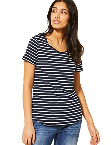 Street One Damen 314793 Gerda T-Shirt, deep Blue, 38